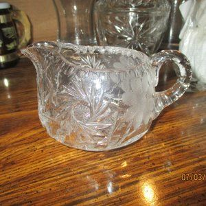 CREAMER CRYSTAL ETCHED BEAUTIFUL
